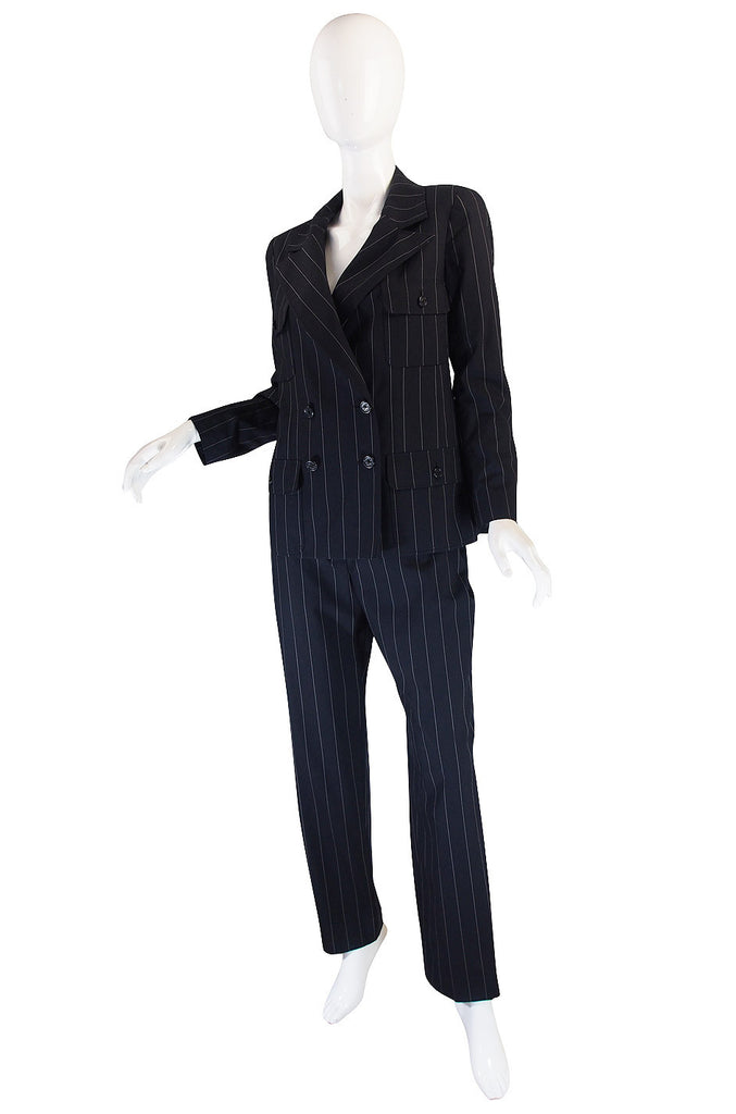 Amazing 1997 Striped Chanel Pant Suit