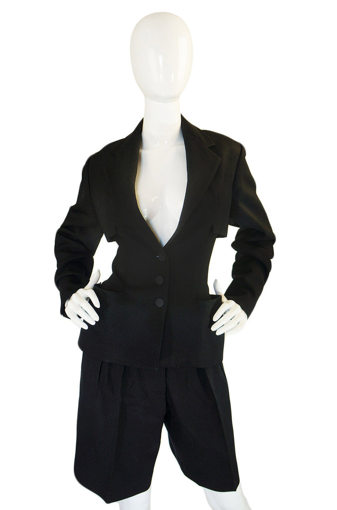 Fall 1990 Azzedine Alaia Men's Suiting Jacket & Shorts Suit
