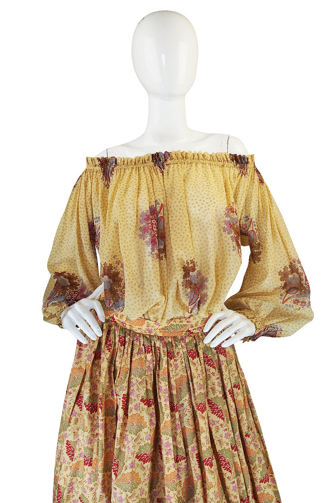 Early 1970s Lanvin Paris Skirt & Top or Dress