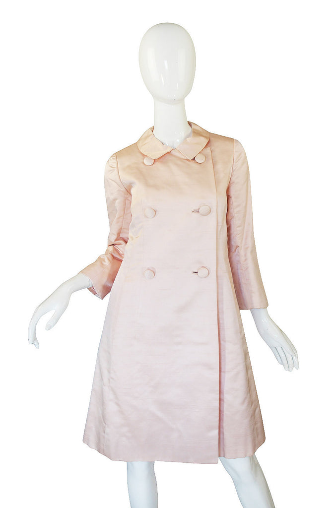 1960s Pink Silk Malcolm Starr Coat