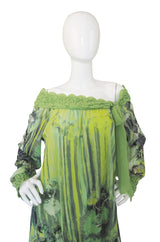 Recent Degas Ballerina Print Mesh Gaultier Dress