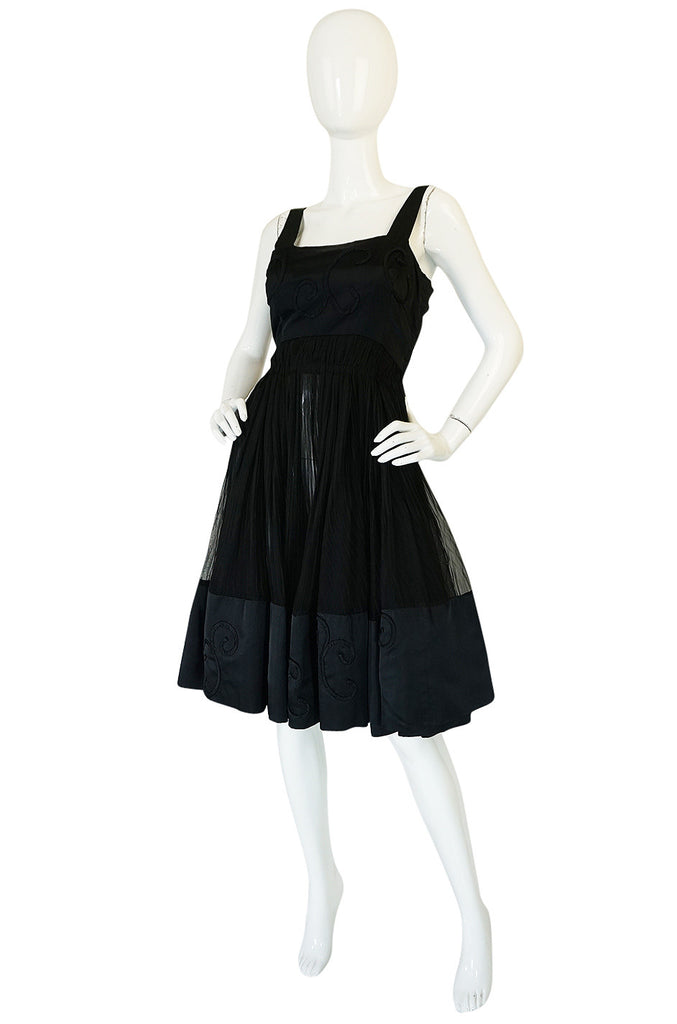 Rare c1955 Jean Patou Numbered Haute Couture Silk Dress