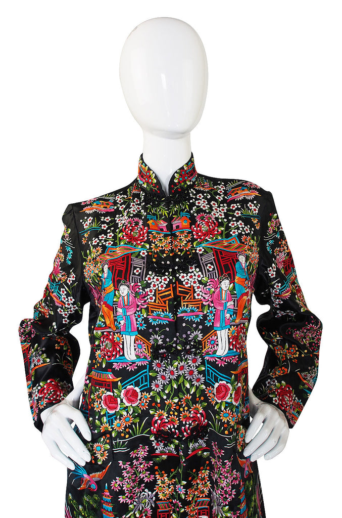 1920s Amazing Embroidered Silk Jacket Coat