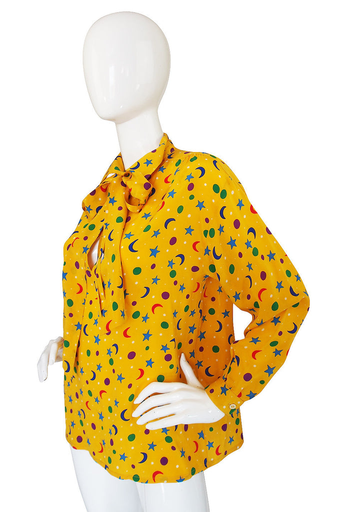 1979 Stars & Moons YSL Silk Shirt