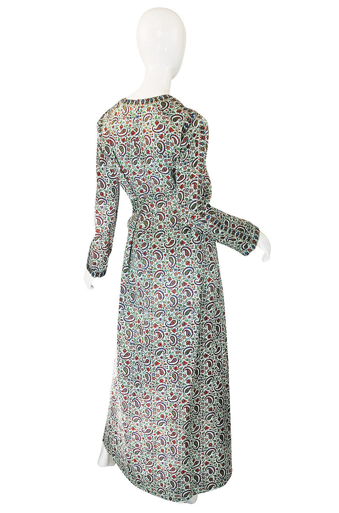 1960s Treacy Lowe Velveteen Caftan Dress