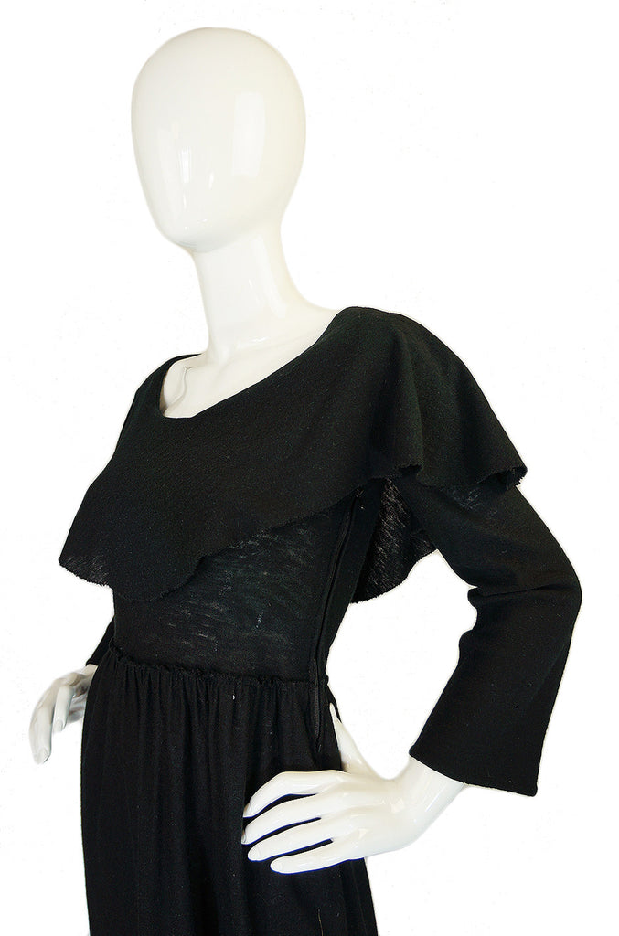 1970s Rare Sonia Rykiel Caped Dress