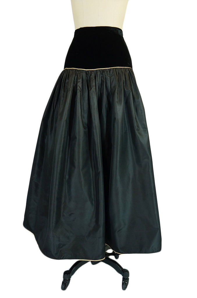 1970s YSL Silk Taffeta Ball Gown Skirt