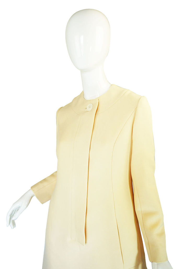 1960s Structured Irene Cream Dress