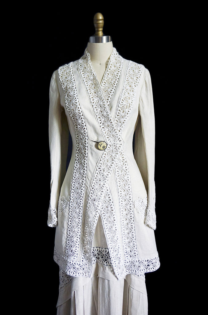 Edwardian Linen & Lace Walking Suit