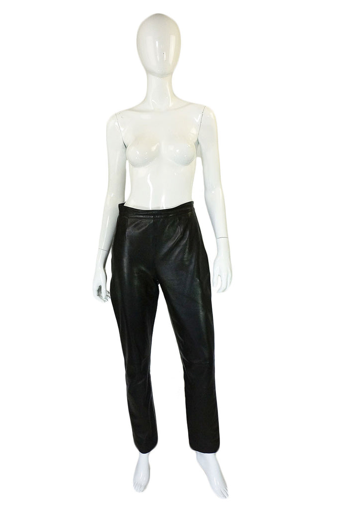 1990s Black Celine Leather Pants