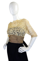 1950s Nathan Strong Silk & Lace Dress