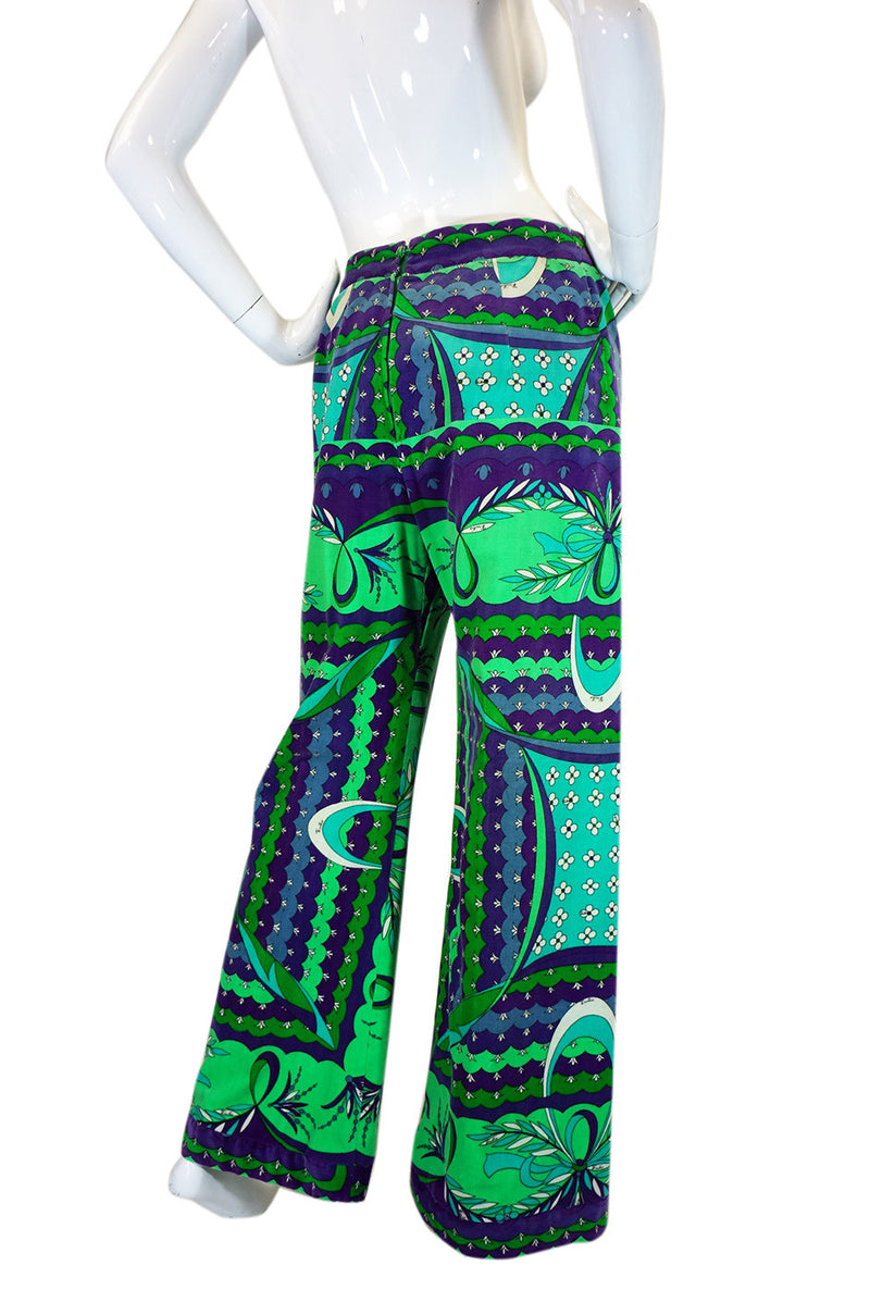 1960s Printed Velvet Pucci Wide Leg Pant