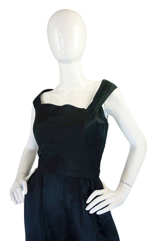 Now On Sale - 1950s Silk Satin Harvey Berin Dress