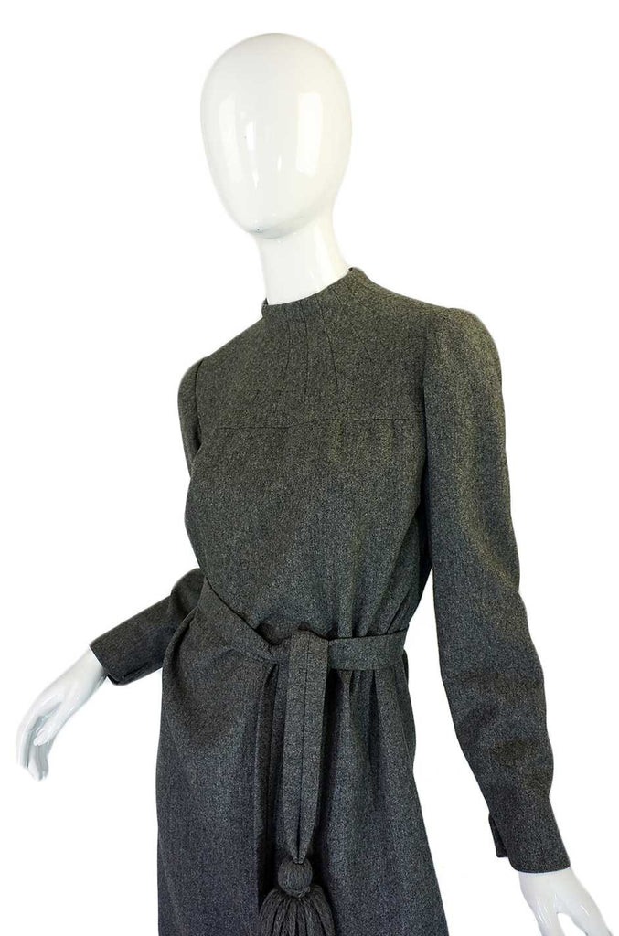 1960s Pom Pom Tassle Dior Wool Dress