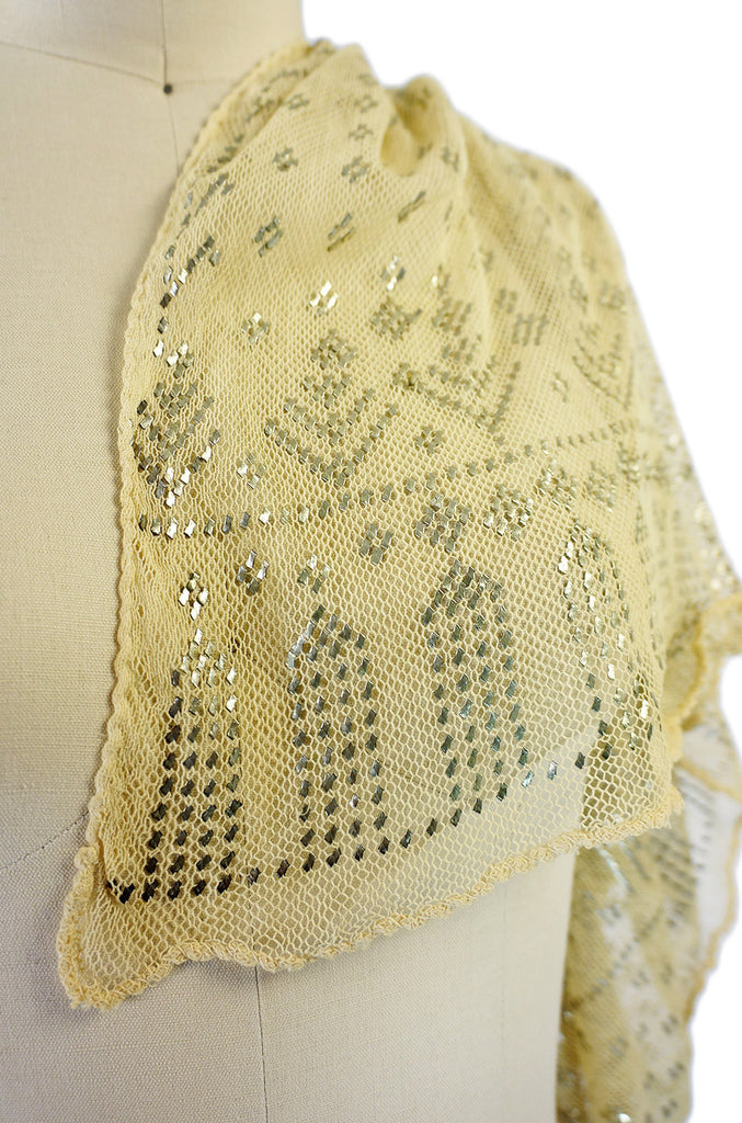 1920s Assuit Scarf Diamond Deco Pattern