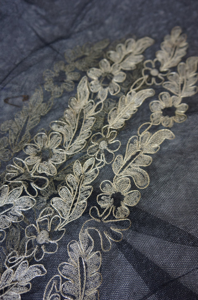 Early 19th Century Lame & Net Shawl