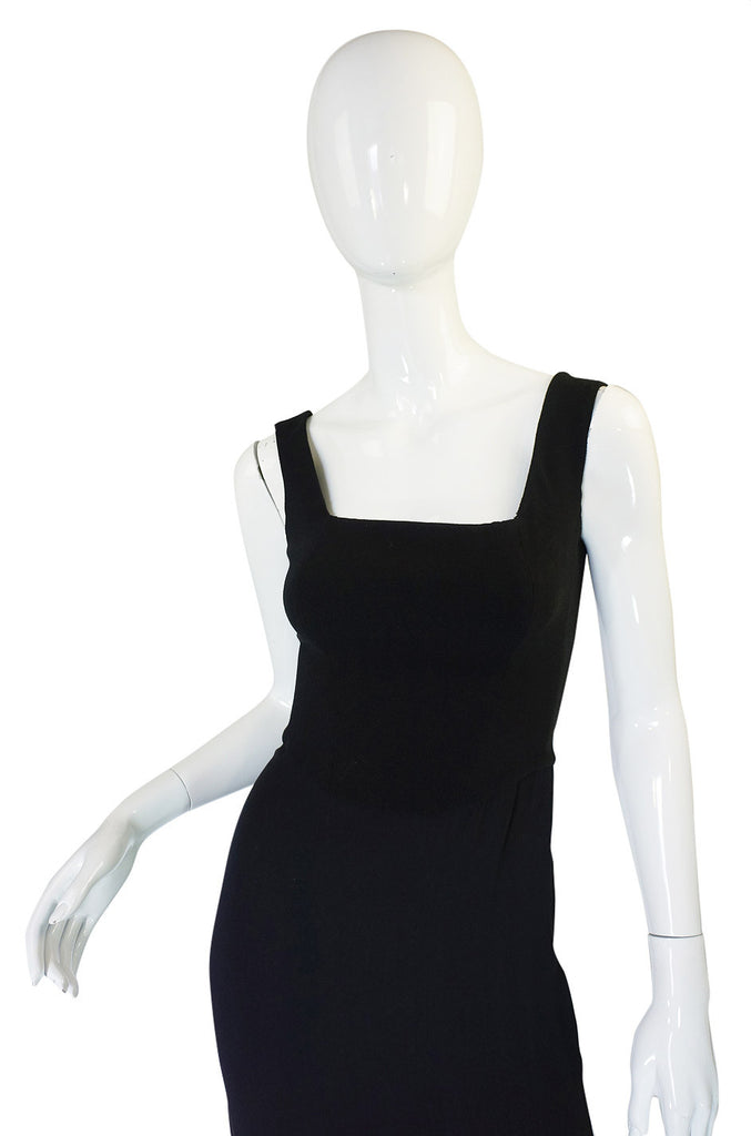 1990s Herve Leger Back Cut Out Dress