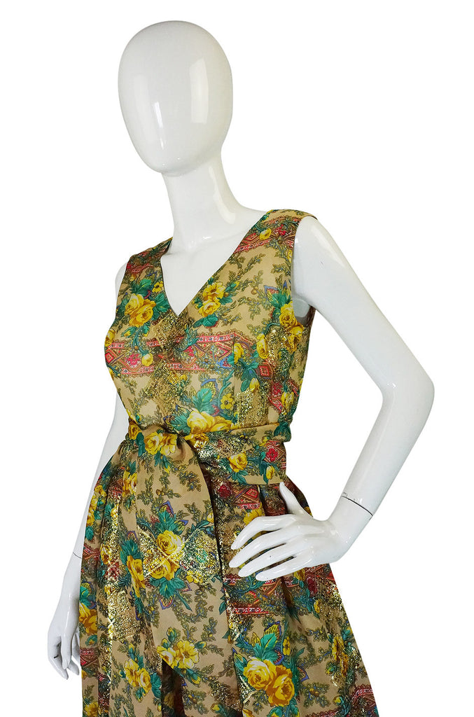 Rare 1950s Jacques Tiffeau Silk Dress