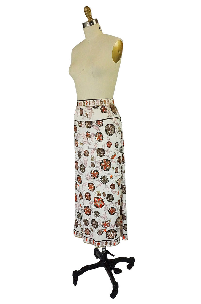 1970s Pucci Silk Skirt and Matching Scarf