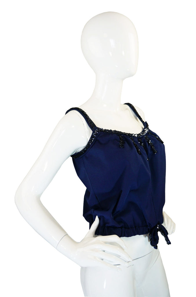 1960s Rare Sequin Courreges Halter Top
