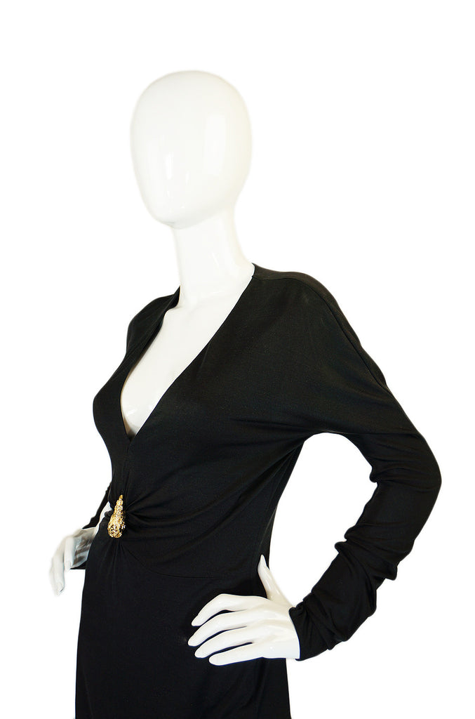 F/W 2000 Tom Ford for Gucci Plunge Jersey Dress