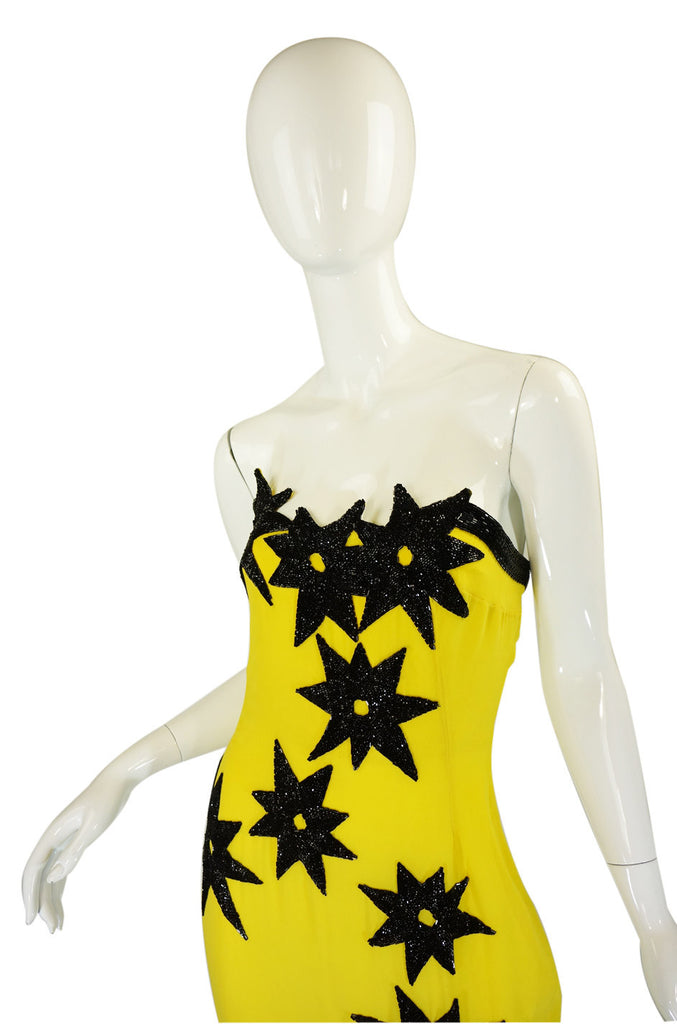 1980s Fabrice Couture Beaded Star Gown