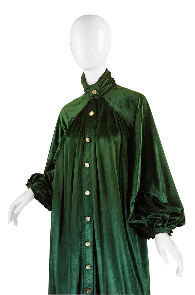 1970s Jean Varon Green Dress or Coat