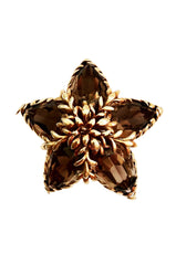 TIFFANY & CO. 18K Gold Topaz Brooch