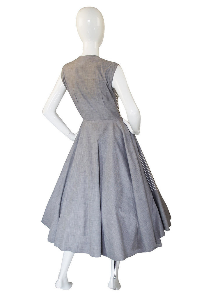 1950s Sweet Rick Rack Sun Dress