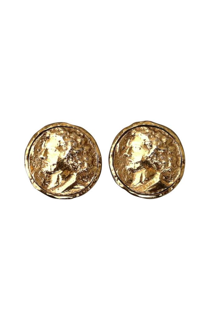 Ancient Coin CHANEL Earrings 1980s
