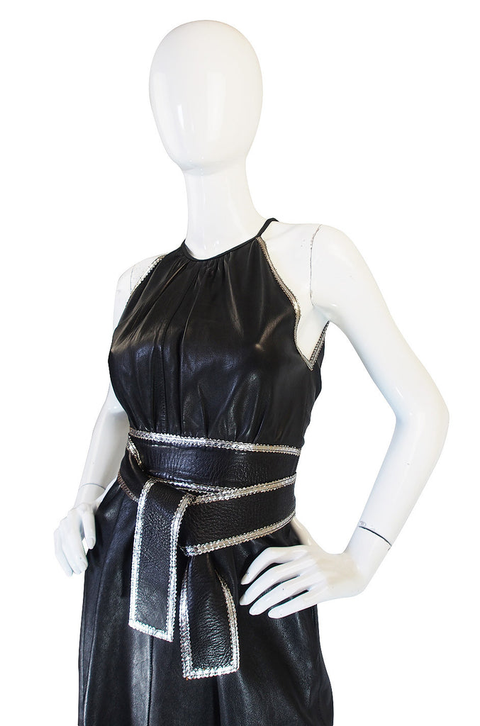 Exceptional & Rare 1972 Jean Muir Leather Dress