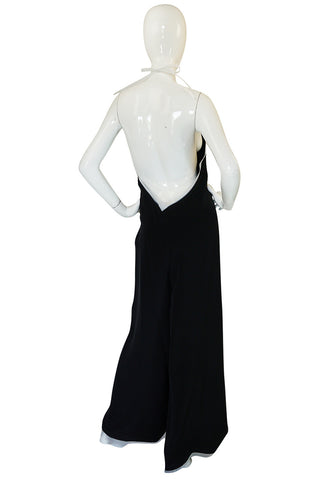 1970s Geoffrey Beene Couture Backless Jumpsuit & Jacket
