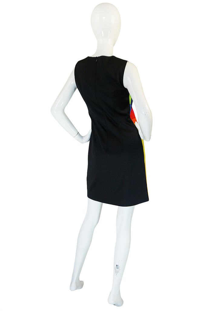 1980s Moschino Cheap & Chic Rainbow Colored Dress & Jacket