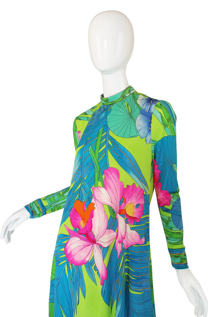 1970s Leonard Paris Tropical Silk Jersey