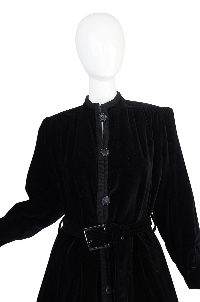 1970s Classic Yves Saint Laurent Velvet Coat