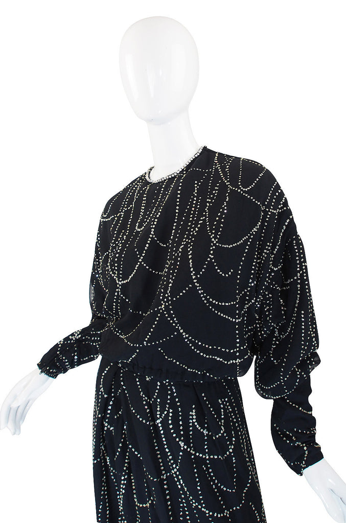 1960s George Halley Glitter & Silk 2 piece