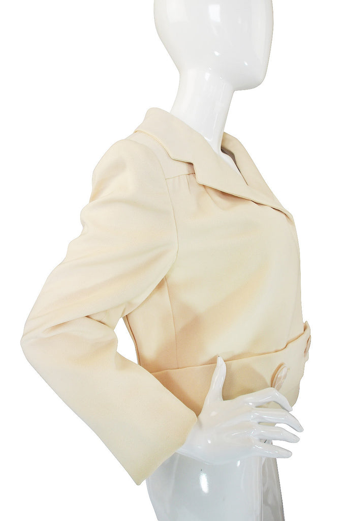 1960s Pauline Trigere Box Pleat Jacket