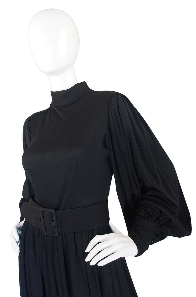 1960s Norman Norell Balloon Sleeve Jersey Dress