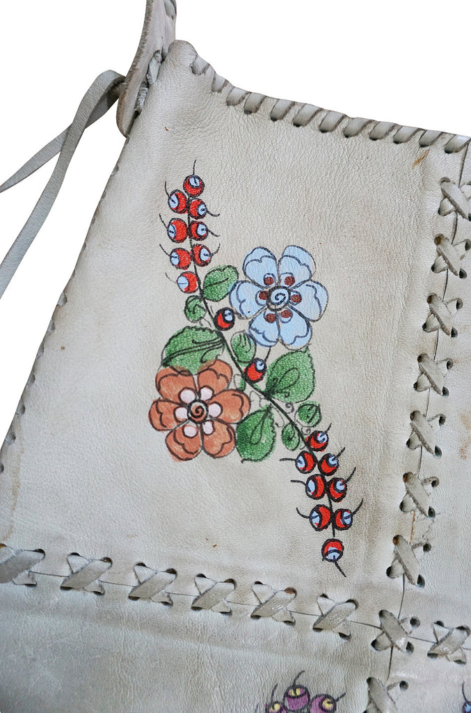 Rare 1960s Hand Painted Whipstitched Char Bag