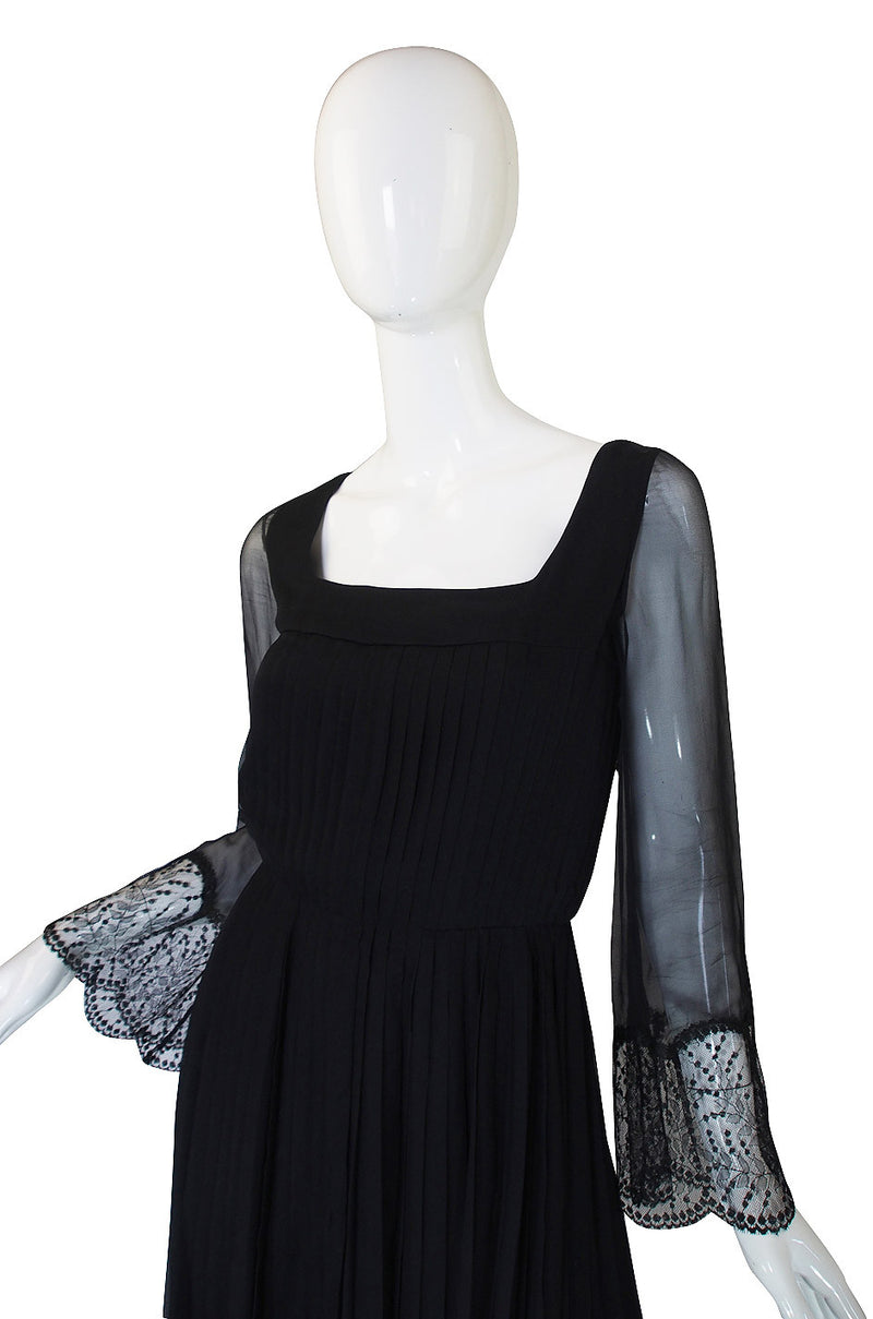 Rare 1960s Silk and Lace Jean Louis Dress
