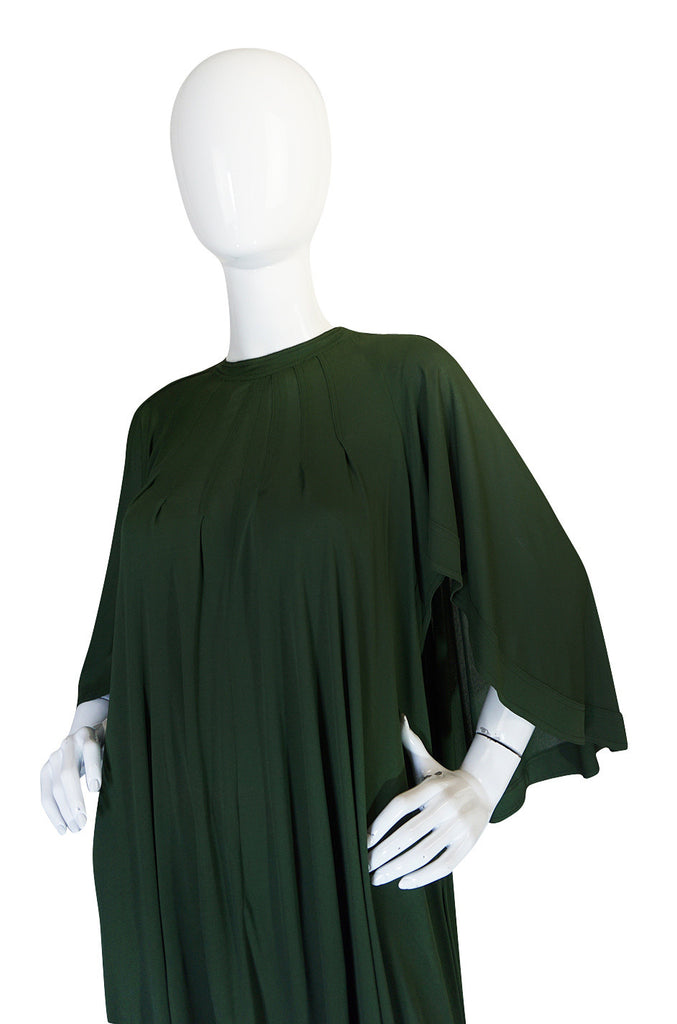 c.1980 Jean Muir Cape Back Museum Piece Dress