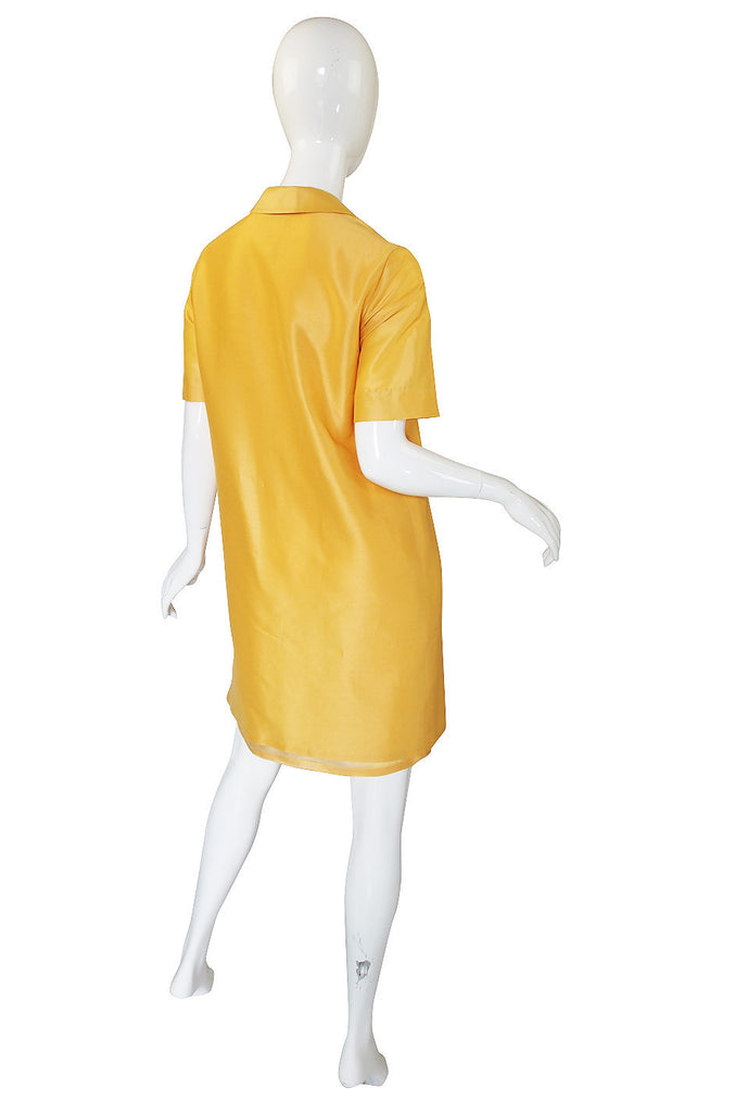 1980s Mila Schon Yellow Shift Dress & Belt