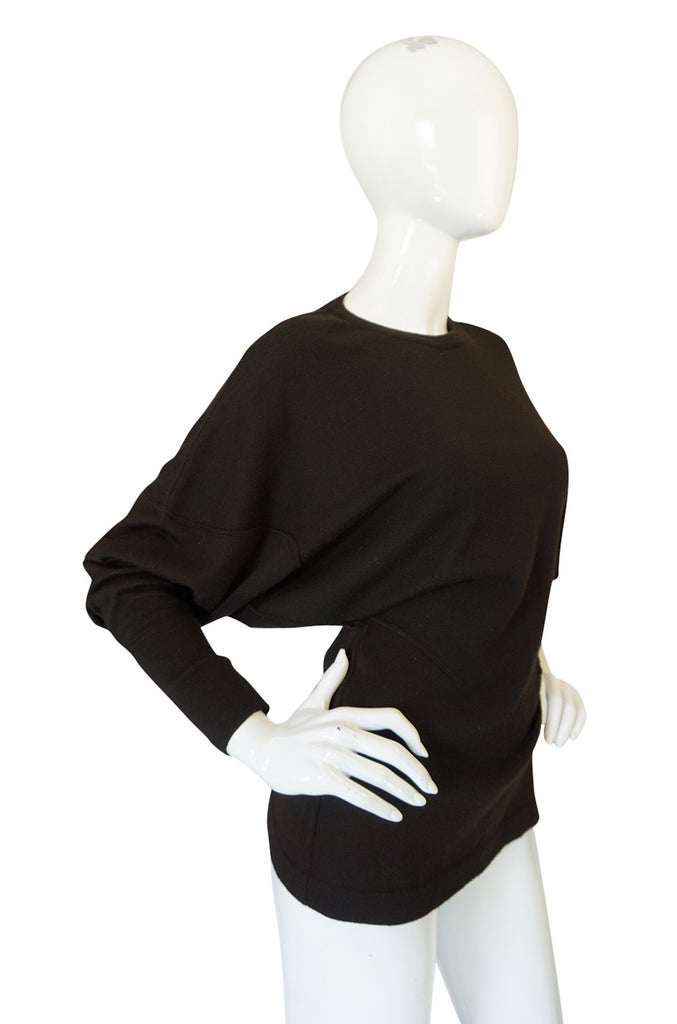 Rare 1980s Chocolate Azzedine Alaia Knit Sweater