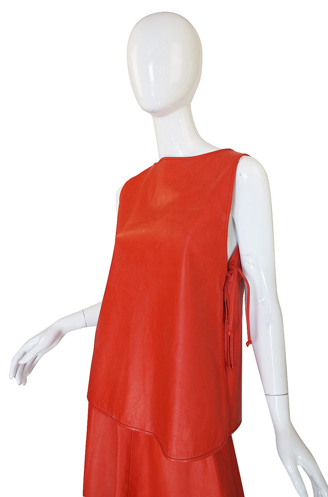 1960s Bonnie Cashin for Sills Orange Leather Set