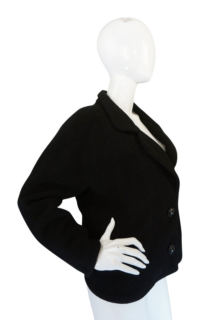 1950s Numbered Haute Couture Black Balenciaga Jacket