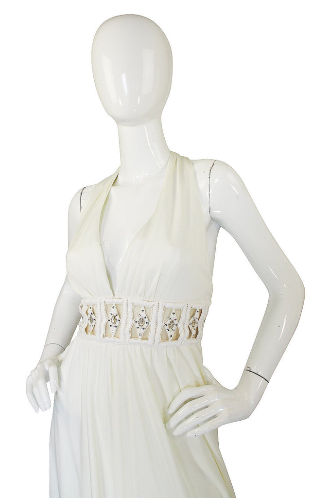 Treasure Item - 1960s Fred Perlberg White Maxi Dress