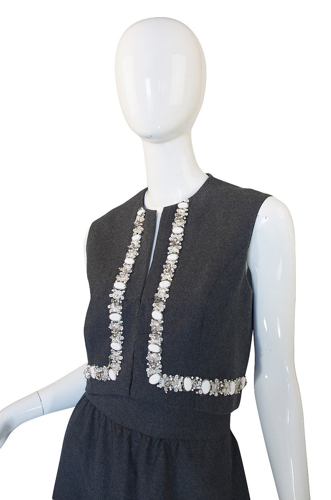 1960s Embellished J.G. Couture Vest & Skirt