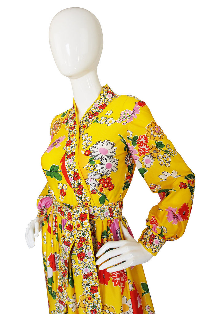 1960s Oscar De La Renta Yellow Maxi Dress