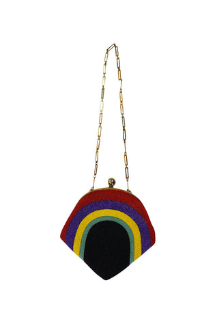 1960s Fully Beaded Rainbow Pierre Cardin Bag Clutch
