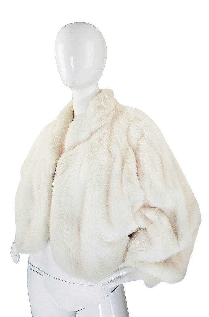 1960s Stunning White Mink Evening Jacket